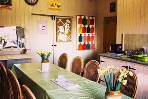 Inside of one of our facilities for hen camp at The Grange