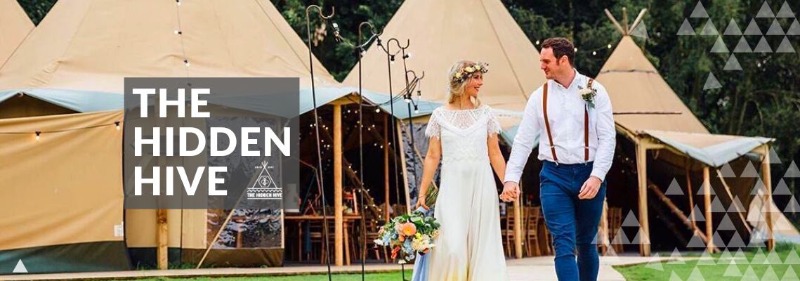 Glamping at The Hidden Hive a Tipi Wedding Venue
